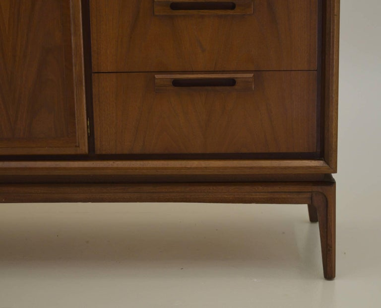 20th Century American Walnut Credenza For Sale