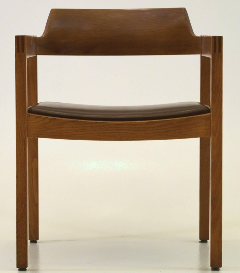 Oak Single Desk Chair by the Gunlocke Company For Sale