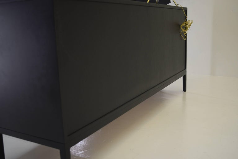 Pristine Black Lacquer Double Dresser by Paul McCobb for Calvin Irwin Collection For Sale 3