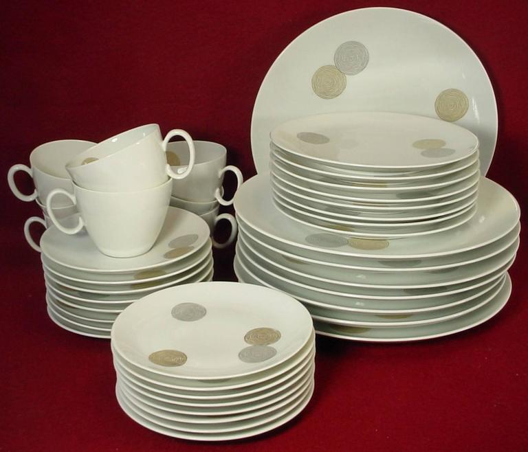 ROSENTHAL Germany COINS pattern 40-piece SET SERVICE for Eight (8)