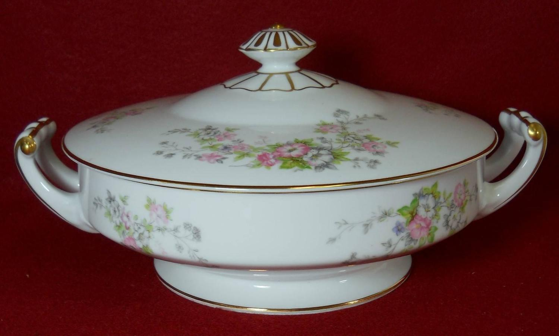 Rose Japan Noritake Ro71 Pink And White Flowers 64 Piece