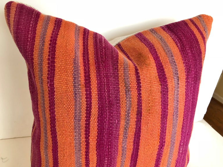 Custom Pillows Cut from a Vintage Moroccan Wool Berber Rug, Atlas Mountains For Sale 1