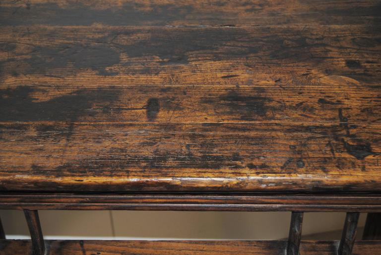 Antique Chinese Elmwood Wine Table, Early 19th Century In Good Condition  For Sale In Glen