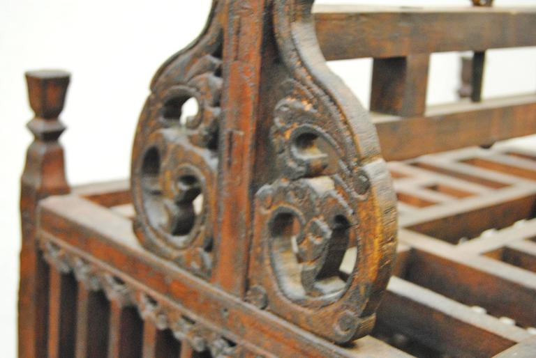 Antique Chinese Hand-Carved Bird Cage for Wedding Gift, circa 1850 6