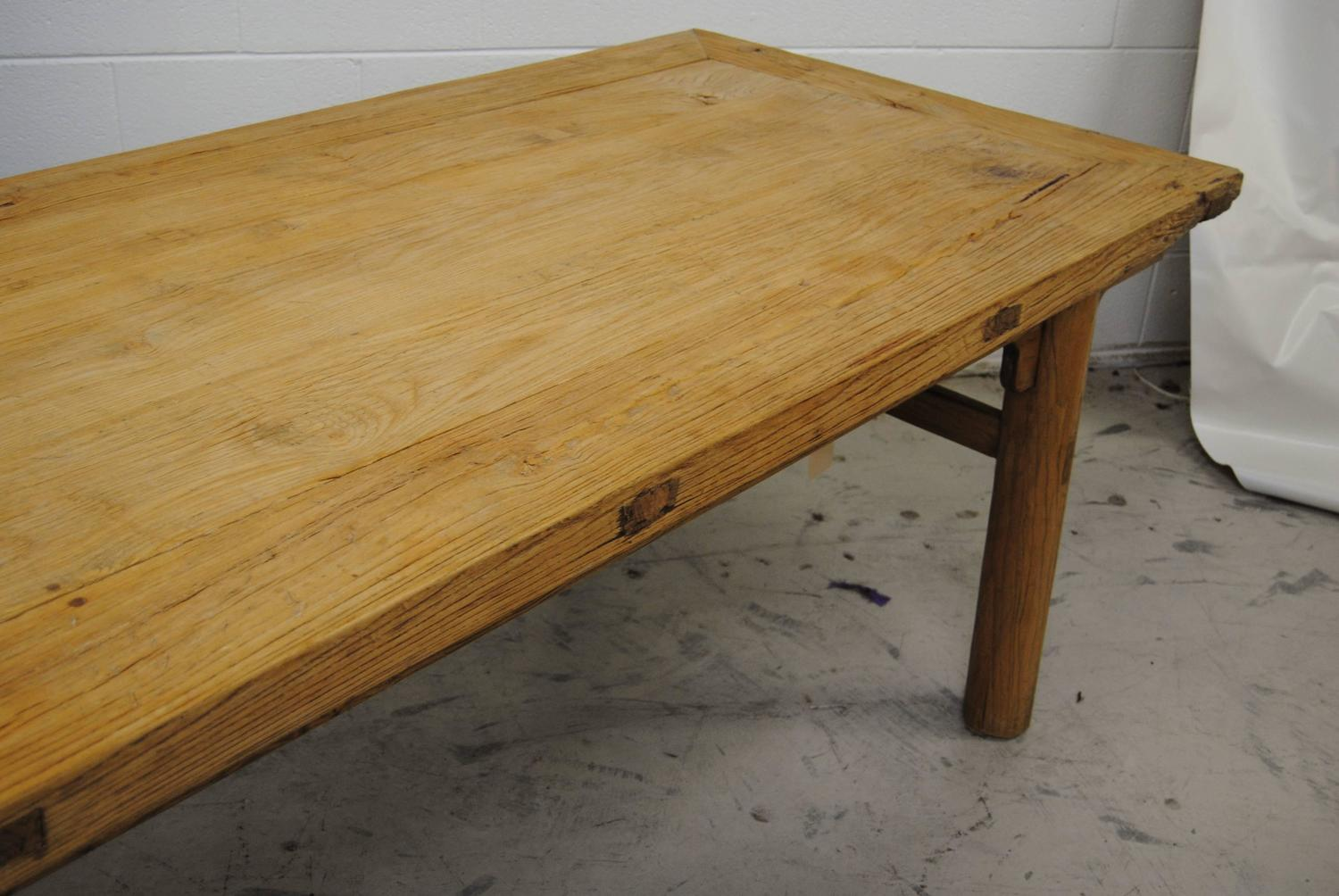 chinese dining table made from an antique chinese elmwood