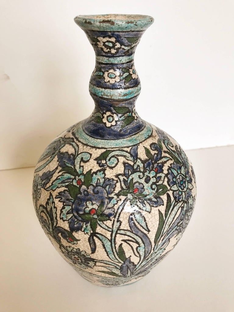 Two Vintage Syrian Vases with Traditional Blue and White Hand ...