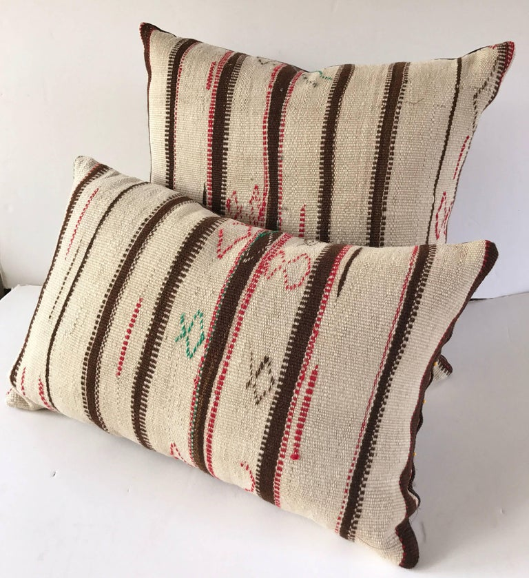 Custom Moroccan Pillow Cut From A Vintage Hand-Loomed Wool