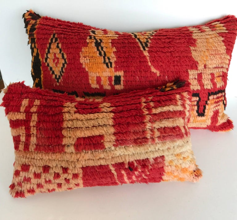 Moroccan Custom Pillow Cut From A Berber Hand Loomed Wool