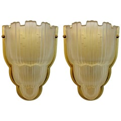 French Art Deco Wall Sconces by Sabino