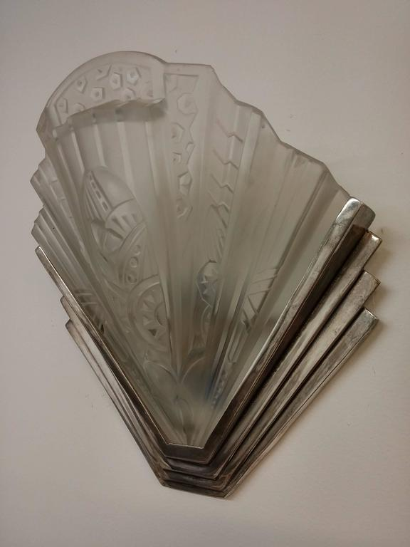 French Art Deco Wall Sconces : French Art Deco Wall Sconces by Frontisi For Sale at 1stdibs