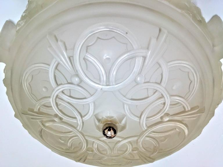 20th Century French Art Deco Flush Mount by Sabino For Sale