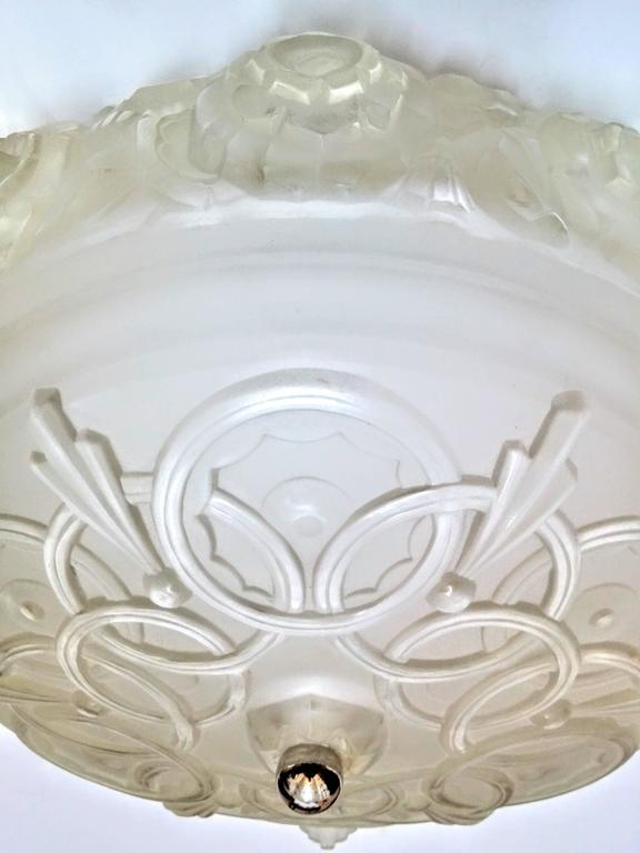 French Art Deco Flush Mount by Sabino For Sale 1