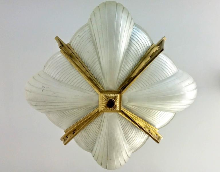 20th Century French Art Deco Chandelier by Atelier Petitot For Sale