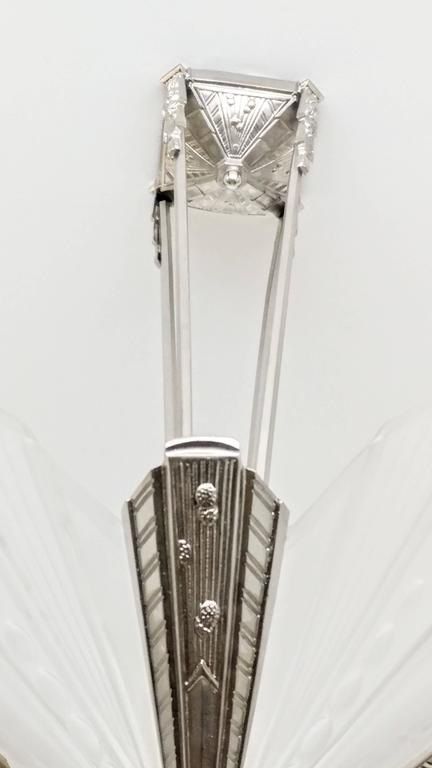 20th Century French Art Deco Chandelier by Atelier E.J.G For Sale