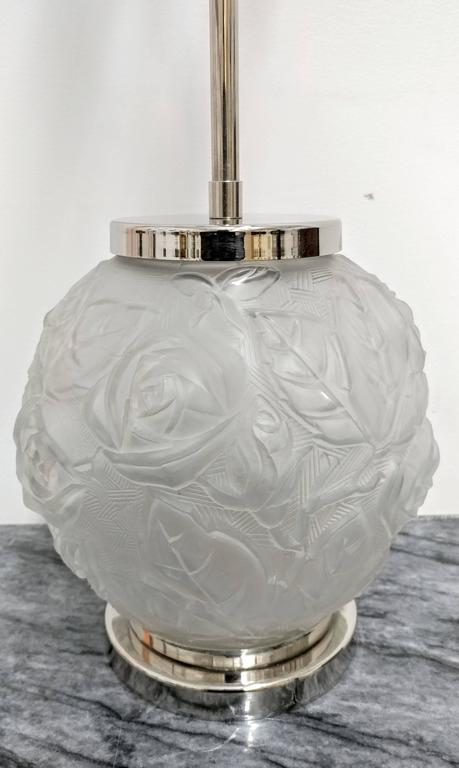 Pressed Pair of French Art Deco Table Lamps For Sale
