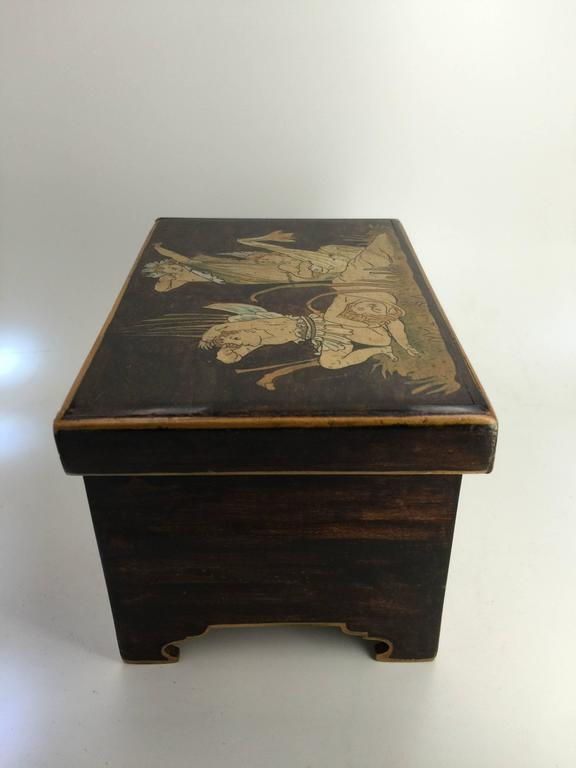 Aesthetic Movement Trinket Box, circa 1900 In Fair Condition For Sale In New York, NY