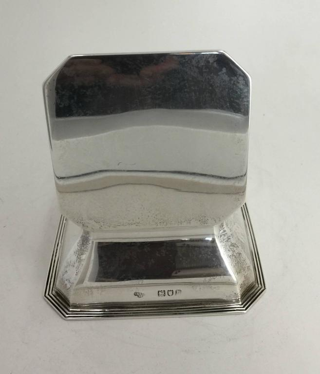 Neoclassical English Silver Inkwell, Stamped Goldsmiths and Silversmiths Company For Sale