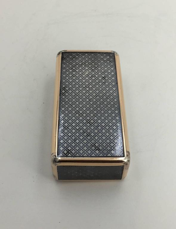 French Continental Niello and Silver Gilt Snuff Box, Early 19th Century For Sale