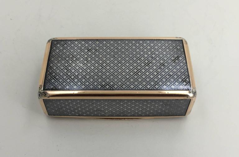 Continental Niello and Silver Gilt Snuff Box, Early 19th Century For Sale 1