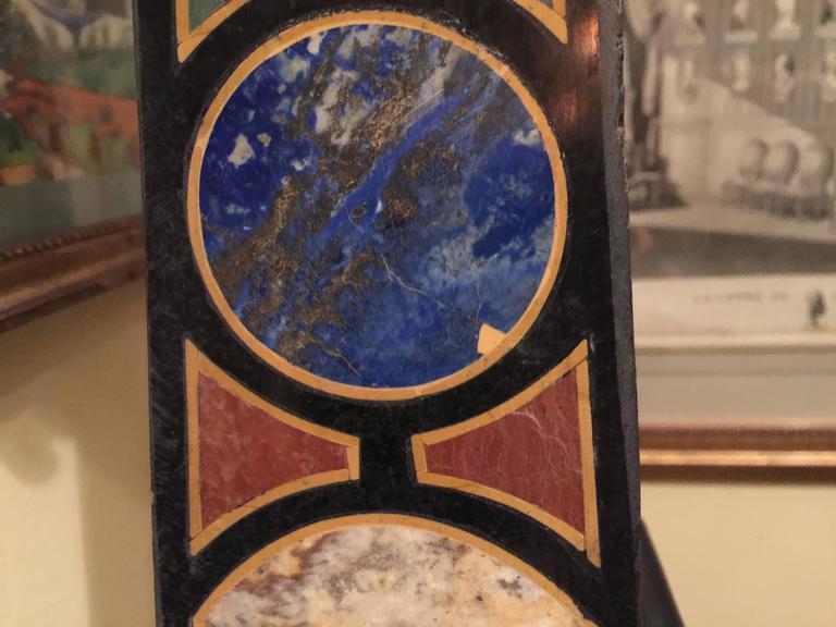 Vintage Pair of Marble Specimen Obelisks, after Mongiardino For Sale 2