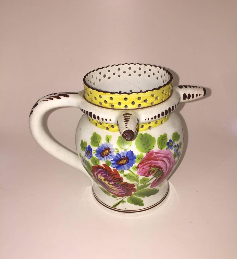 English George IV Painted Puzzle Jug, Dated 1823 with Initials JA For Sale