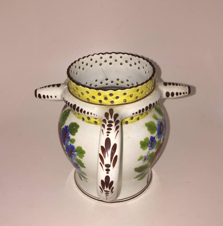 George IV Painted Puzzle Jug, Dated 1823 with Initials JA In Distressed Condition For Sale In New Spencertown, NY