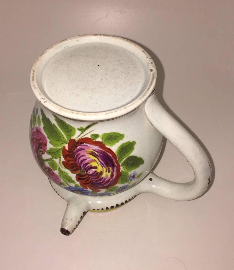 Early 19th Century George IV Painted Puzzle Jug, Dated 1823 with Initials JA For Sale