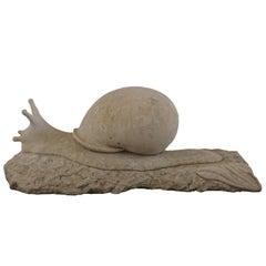 Italian Limestone Garden Snail Ornament