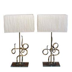 Pair of 20th Century Italian Table Lamps Bertolani