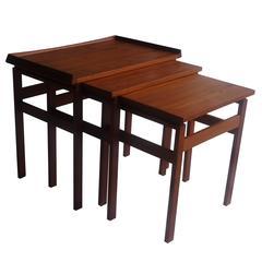 Mid-20th Century Set of Three Scandinavian Teak Tables