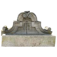 Baroque French Wall Fountain, circa 1700