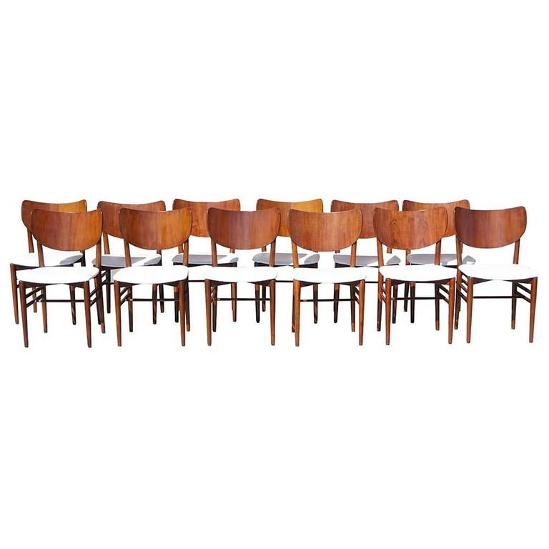 20th Century Set of 12 Chairs Nils and Eva Kopp for Slagelse