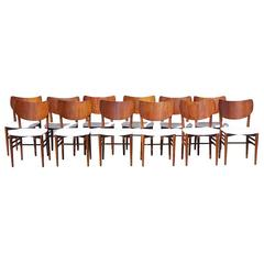 20th Century Set of Twelve Chairs by Nils & Eva Koppel
