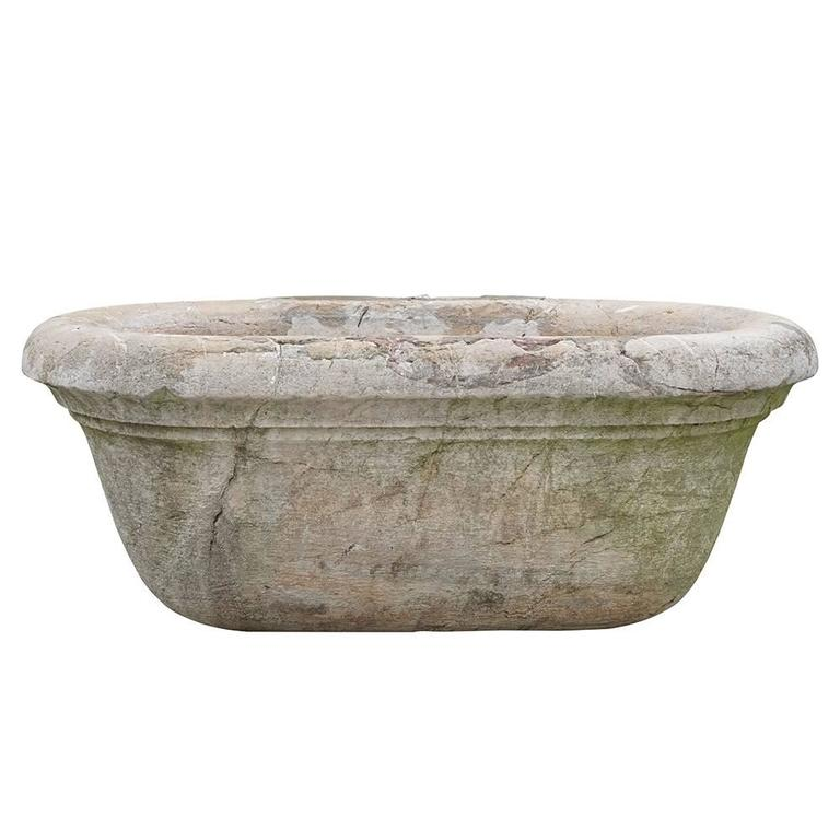19th Century Antique Italian Marble Tub or Basin