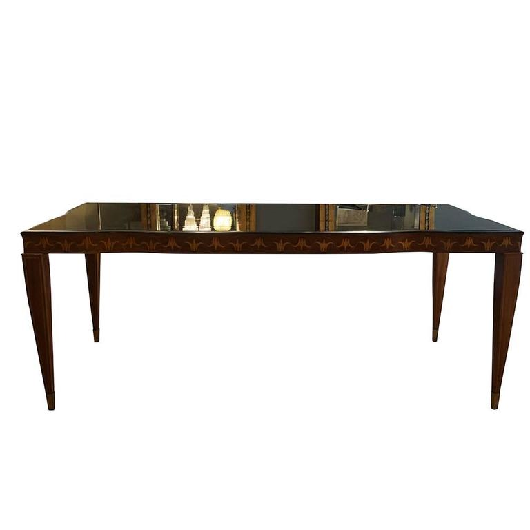 Mid-Century Modern Dining Table in Rosewood Paolo Buffa