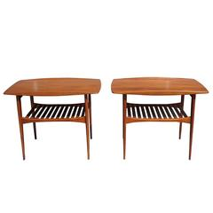 Mid-Century Pair of Tove and Edvard Kindt-Larsen Danish End Side Tables