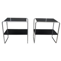 20th Century Pair of Console Tables Marcel Breuer