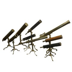 A very rare Collection of 18th Century, French and English Telescopes