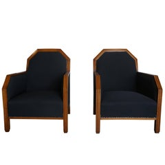 20th Century Pair of Art Deco Club Chairs