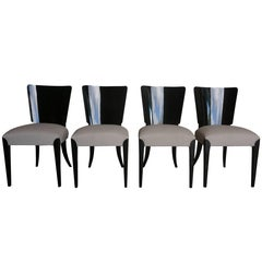 20th Century Set of Four Halabala Art Deco Chairs