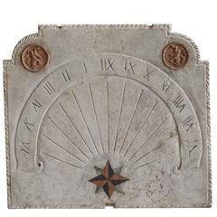 19th Century French Cadran Solaire Sundial in Marble