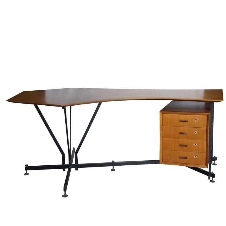 Mid-Century Modern Italian Desk Designed by Studio PFR