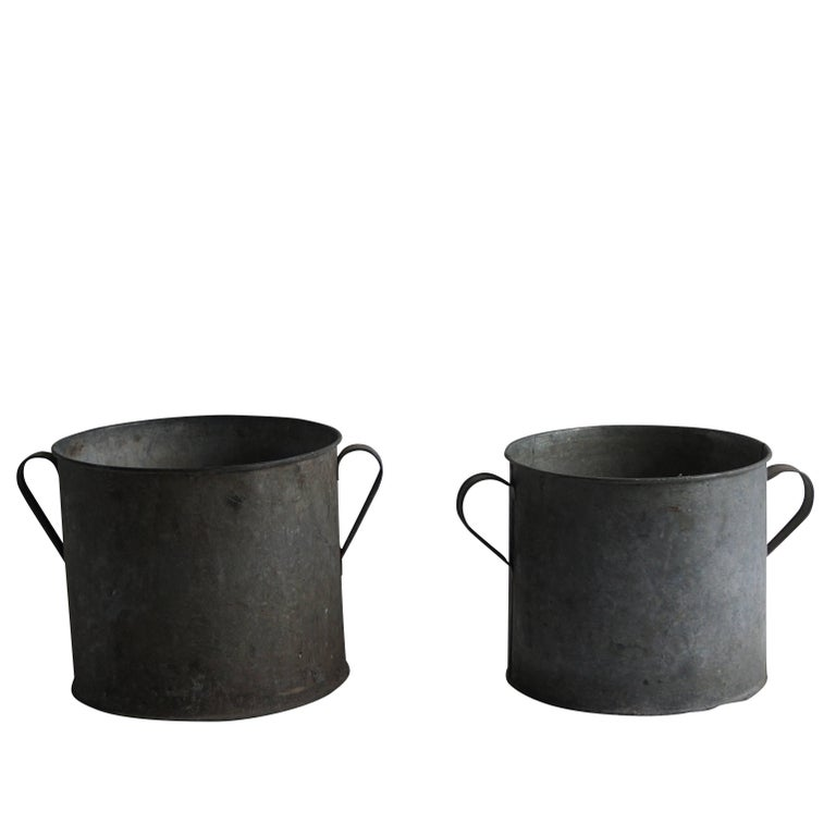 Mid-20th Century Pair of Vintage French Pots