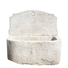 Early 19th Century Antique Sicilian Wall Fountain in Granite
