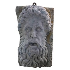 Early 20th Century Wall Mount Zeus Mask in Verona Marble
