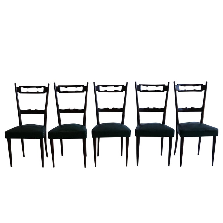 Mid-Century Modern Set of Five Paolo Buffa Chairs
