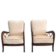 20th Century Pair of Paolo Buffa Armchairs