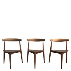 20th Century Set of Three Hans Wegener for Fritz Hansen Chairs