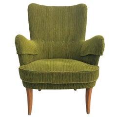 20th Century Single Swedish Armchairs Carl Malmsten Style