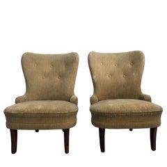20th Century Pair of Slipper Chairs